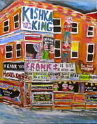 Hamburger Paintings - Kishka King on Pitkan by Michael Litvack