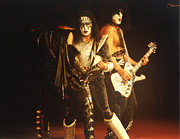 Ace Frehley Posters - KISS-Ace-3Shot Poster by Gary Gingrich Galleries