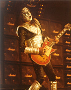 Ace Frehley Posters - KISS-Ace-Solo Poster by Gary Gingrich Galleries