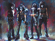 Rock Band Prints - Kiss Print by Viola El