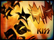 Gene Simmons Posters - KISS  Dreamin Poster by James Barnes