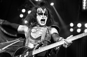 Concerts Prints - KISS-Gene-GP09 Print by Timothy Bischoff