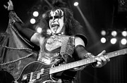 Concerts Prints - Kiss-Gene-GP10 Print by Timothy Bischoff