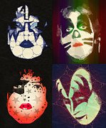 Rock N Roll Digital Art - Kiss by Gordon Dean II