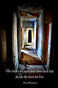Abandoned House Photos - Kiss It Cancer 4 by Emily Stauring