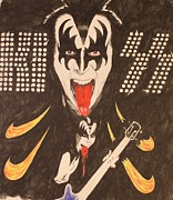 Michael Mcgrath Metal Prints - Kiss Metal Print by Michael McGrath