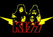 Rock N Roll Digital Art - KISS No.01 by Caio Caldas