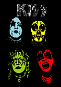 Rock Band Prints - KISS No.02 Print by Caio Caldas