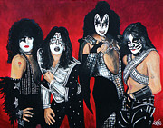 Gene Simmons Framed Prints - Kiss Framed Print by Tom Carlton