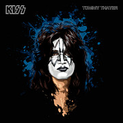 40th Posters - KISSs Tommy Thayer Poster by David E Wilkinson