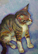 Kitten Prints - Kit Kat The Tabby Kitten Print by Carol Jo Smidt