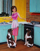 Spaniels Originals - Kitchen Companions by Emily Olson