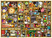 Bizarre Digital Art Prints - Kitchen Cupboard Print by Colin Thompson
