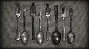 Pantry Photos - Kitchen Dining Utensils of Silverware and Flatware with Forks Sp by ELITE IMAGE photography By Chad McDermott