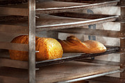 Rack Posters - Kitchen - Food - Bread - Freshly baked bread  Poster by Mike Savad
