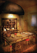 Cooking Posters - Kitchen - Grannys Stove Poster by Mike Savad