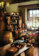 Colonial Framed Prints - Kitchen - Nothing like home cooking Framed Print by Mike Savad