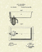 Sink Prints - Kitchen Sink 1878 Patent Art Print by Prior Art Design
