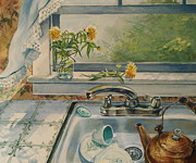 Fineartamerica.com Paintings - Kitchen Sink by Joy Nichols