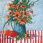 Pointillism Originals - Kitchen  Still Life by Micheal Jones