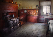Suburbanscenes Art - Kitchen - Storybook cottage kitchen by Mike Savad