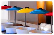 Buffet Posters - Kitchen Umbrellas Poster by Diane Wood