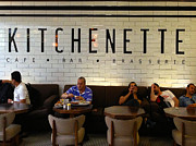 Kitchenette Posters - Kitchenette Cafe Bar Brasserie Istanbul Airport Turkey Poster by ArtPhoto-Ralph A  Ledergerber-Photography