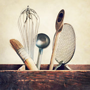 Food Still Life Posters - Kitchenware Poster by Priska Wettstein