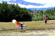 Kite Boarding Art - Kite Boarding Family by Joseph Coulombe