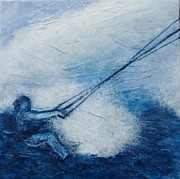 Extreme Sport Paintings - Kite by Lisbet Damgaard