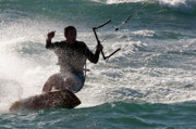 Kite Boarding Art - Kite Surfer 01 by Rick Piper Photography