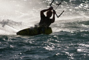 Kite Boarding Art - Kite Surfer 02 by Rick Piper Photography