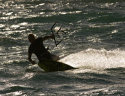 Kite Surfer 03 Print by Rick Piper Photography