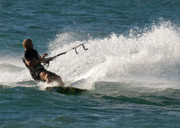 Kite Boarding Art - Kite Surfer 04 by Rick Piper Photography