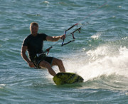 Kite Boarding Art - Kite Surfer 05 by Rick Piper Photography