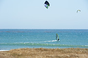 Kite Surfing And Wind Surfing Central Coast San Simeon California Print by Artist and Photographer Laura Wrede