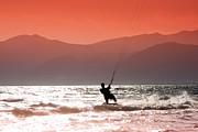 Kite Surfing Print by Gabriela Insuratelu