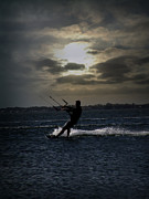 Kiting Prints - Kite Surfing Print by Lj Lambert
