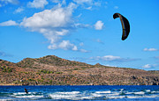 Kite Boarding Framed Prints - Kitesurfer 02 Framed Print by Antony McAulay