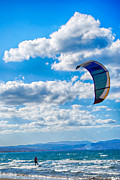 Kite Boarding Framed Prints - Kitesurfer Framed Print by Antony McAulay
