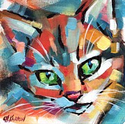 Christine Karron Metal Prints - Kitten Metal Print by Christine Karron