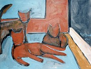 Pet Therapy Art - Kittens by Allison  Fauchier
