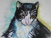Kitty ..all Grown Up Print by Chrisann Ellis