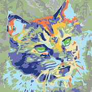 Kitty Digital Art - Kitty Kat 1 by Judy Salinsky