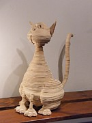 Layers Sculpturing Sculptures - Kitty by Motti Inbar