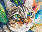 Feline Paintings - Kitty by Patricia Allingham Carlson