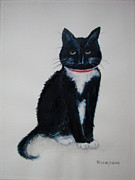 Veronica Rickard Prints - Kitty Print by Veronica Rickard