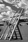 Gary Warnimont Metal Prints - Kiva Ladder Acoma Pueblo New Mexico Metal Print by Gary Warnimont