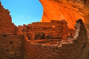 Mesa Verde Prints - Kiva Under An Alcove Print by Adam Jewell