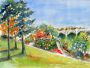 Gazebo Painting Framed Prints - Kiwanis Park Lookout Framed Print by Pat Katz